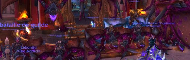 Rassemblement de Proto-drakes pourpre par la guilde Dust