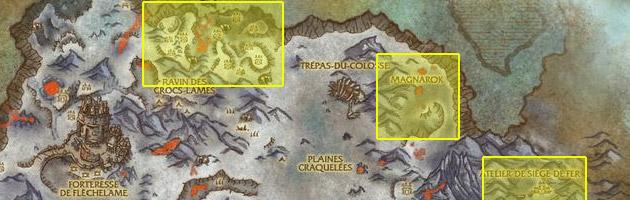 La carte des zones à farmer (cliquez pour agrandir)
