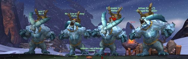 Un groupe de joueurs relève tous les défis or dans Warlords of Draenor