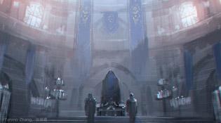La salle du trône illustrée par Yanmzo