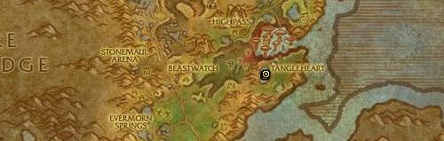 Se récupère sur Fossilebois le Pétrifié en Gorgrond.
