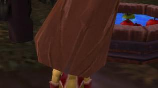 Poupin et son masque Tiki effrayant
