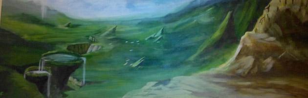 Une peinture de la région de Nagrand réalisée par Éric Emmers