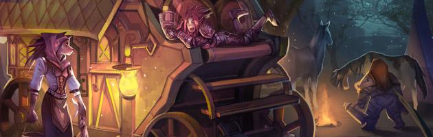 La Caravane de Fiona accompagnée de ses acolytes dans les Maleterres de l'Est
