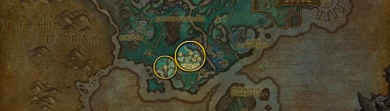 Etoile noire carte Ombrelune