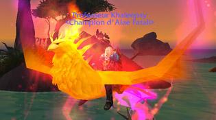 Khaleepsy et la monture Cendres d'Alar