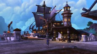 Vue de votre navire et de votre port