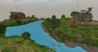 Le Bassin d'Arathi dans Minecraft
