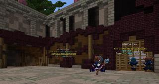 Le Goulet de Chanteguerre dans Minecraft