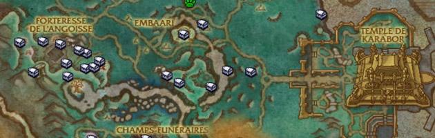 Grâce aux cartes au trésors vous visualisez directement les trésors sur votre map