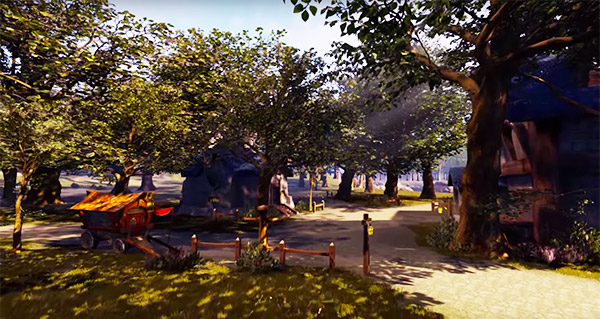 La Forête d'Elwynn dans Unreal Engine 4