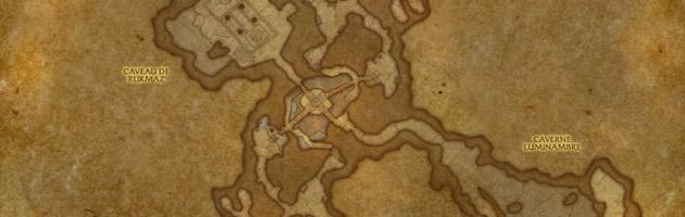Carte de l'excavation d'A'shran
