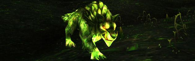 Domptez un loup gangre-lié dans la jungle de Tanaan