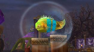 Blorp nouveau poisson dans sa bulle