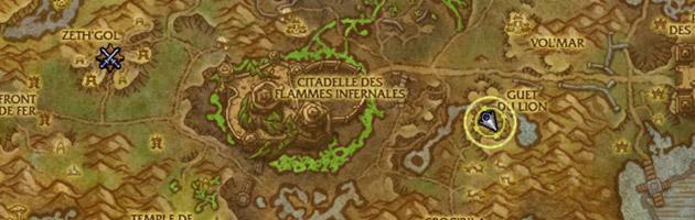 La carte de la Jungle de Tanaan