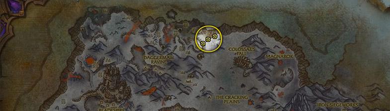 Etoile noire carte Crete de givrefeu