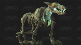 Modèle chien squelettique