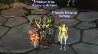 Axara et Benderine et le titre Prédatrice