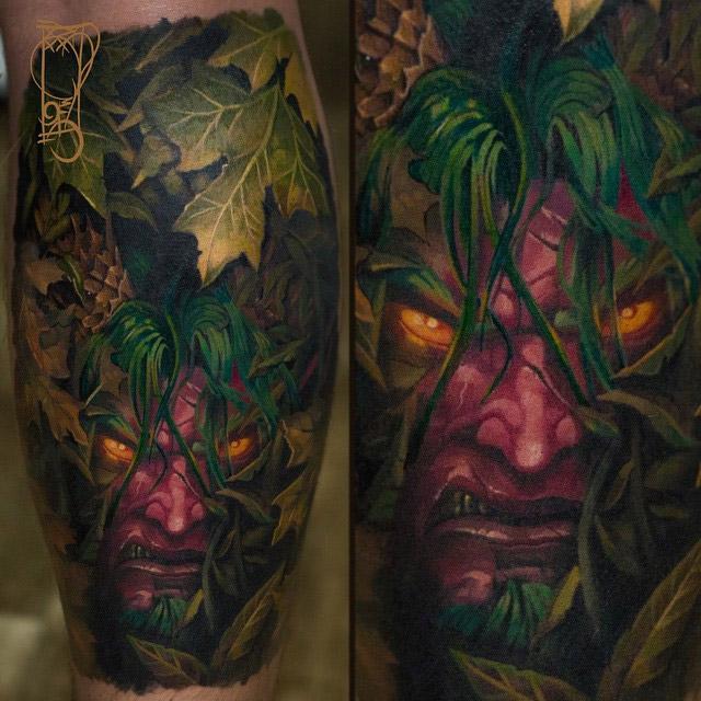 Tatouage Malfurion Hurlorage par Tymur Denysenko