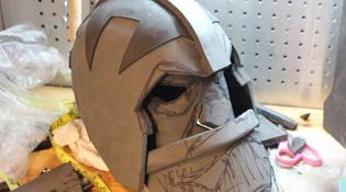 Conception casque est visage Orc
