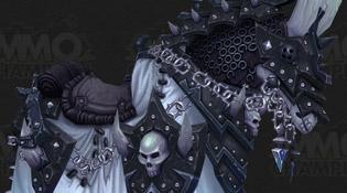 Modèle d'un cheval de guerre squelette