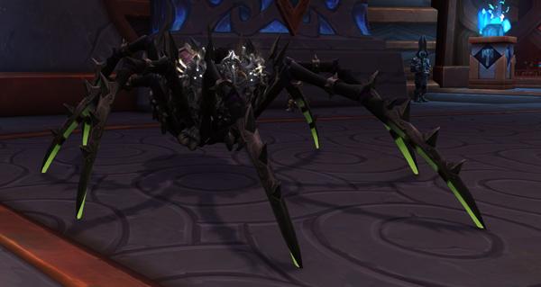 Araignée de guerre vicieuse monture WoW Shadowlands