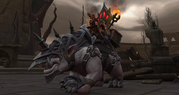 Armure de bataille en pierre tombale monture WoW Shadowlands