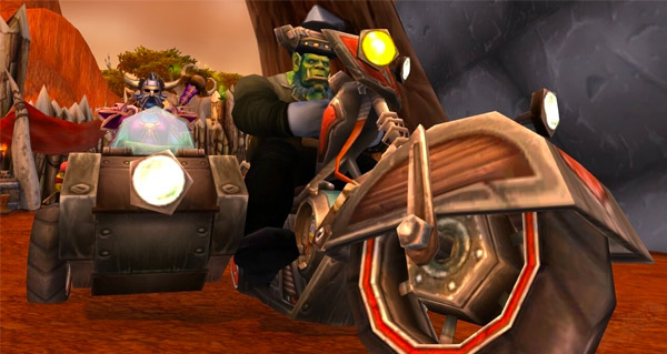 Bécane avec chauffeur - Monture World of Warcraft