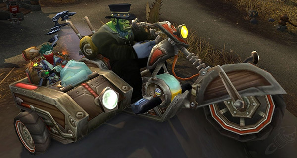 Bécane avec chauffeur - Monture World of Warcraft