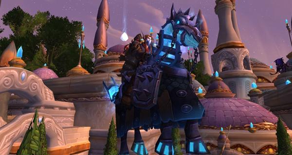 Bride de destrier spectral bardé de fer monture WoW Warlords of Draenor