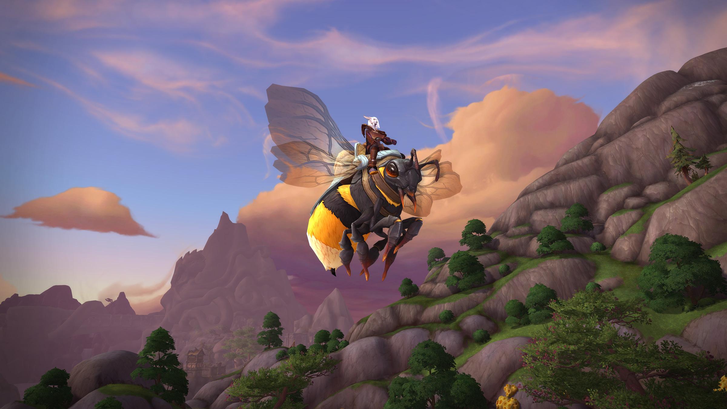 Butineuse dos-de-miel, monture du patch 8.2.5