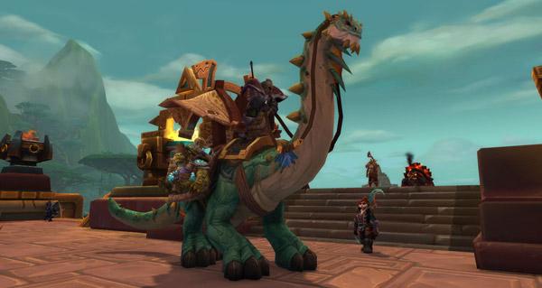 Rênes de brutosaure de caravane puissant monture WoW Battle for Azeroth