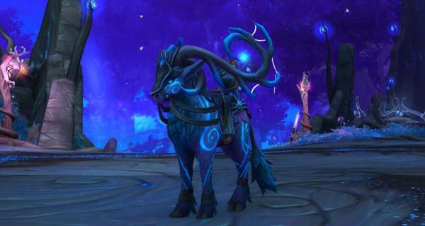 Cerf runique lumerêve enchanté - Monture World of Warcraft