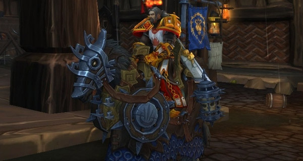 Cheval de guerre gilnéen vicieux - Monture World of Warcraft