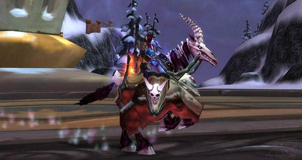 Cheval de guerre squelette rouge monture WoW Burning Crusade