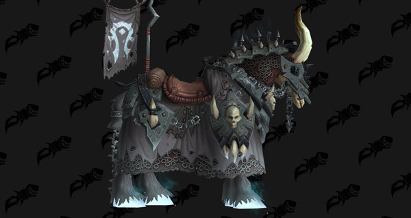 Cheval d'os blanc vicieux - Monture World of Warcraft
