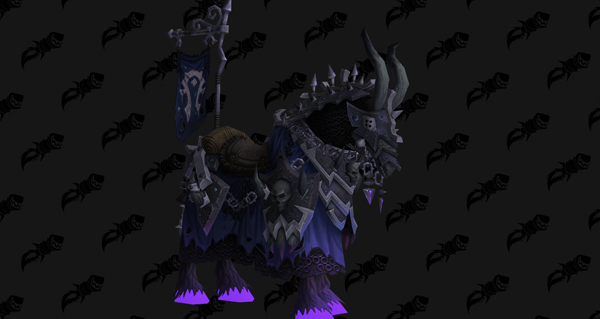 Cheval d'os noir vicieux monture WoW Battle for Azeroth