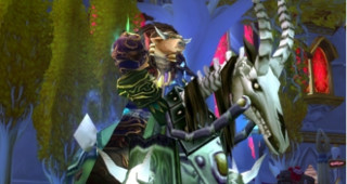 Cheval de guerre squelette vert - Monture World of Warcraft