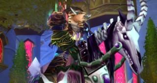 Cheval de guerre squelette violet