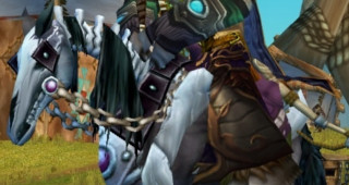 Cheval squelette noir monture WoW Wrath of the Lich King