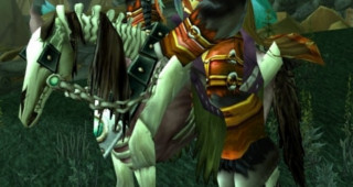 Cheval squelette rouge - Monture World of Warcraft