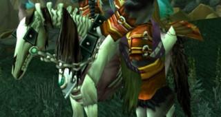 Cheval squelette rouge monture WoW WoW Vanilla