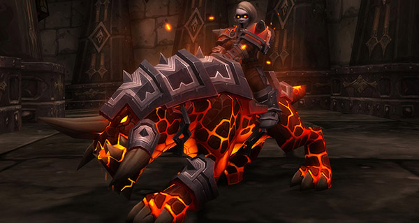 Chien du magma sombrefer monture WoW Battle for Azeroth