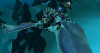 Coursier du vent bleu cuirassé monture WoW Wrath of the Lich King