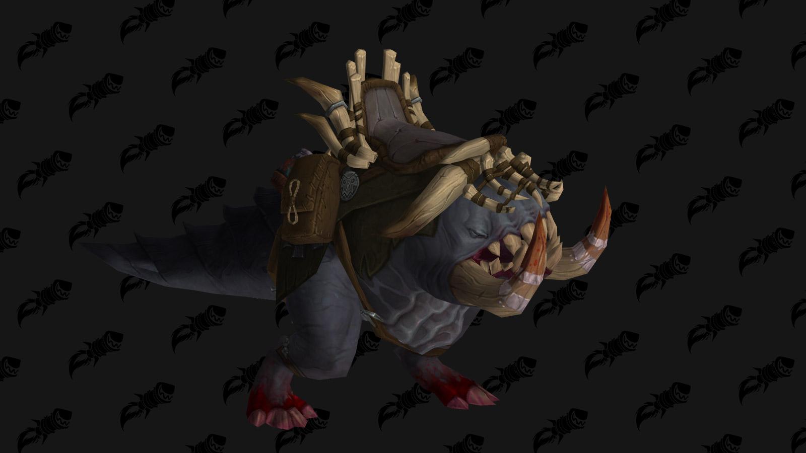 Le haut fait gloire à l'écumeur de raids d'Uldir permet d'obtenir le Crogg gorgé de sang