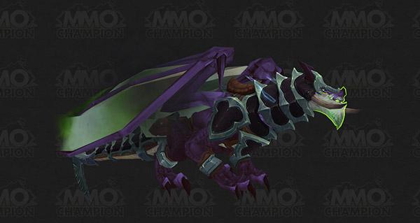 Dragon des tempêtes du gladiateur démoniaque monture WoW Legion
