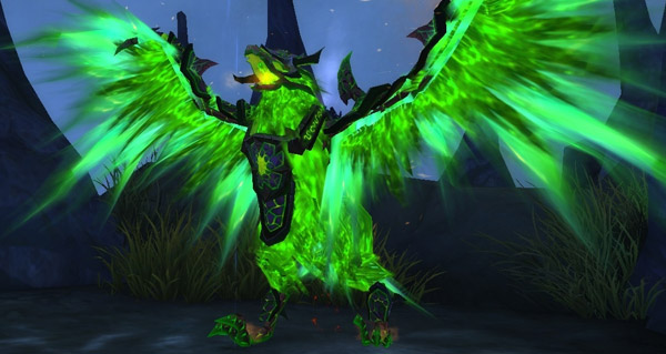 Faucon de gangrefeu monture WoW Warlords of Draenor