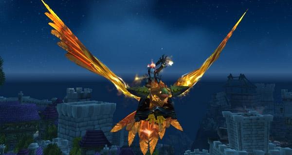 Faucon des flèches solaire - Monture World of Warcraft