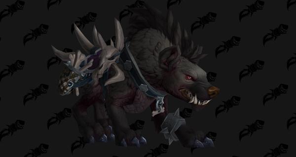 Rênes de la hyène de guerre onyx - Monture World of Warcraft