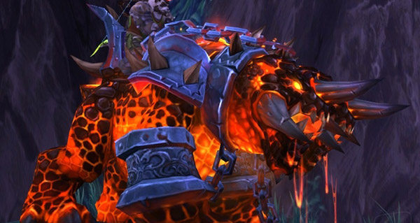 Laisse de chien du magma - Monture World of Warcraft